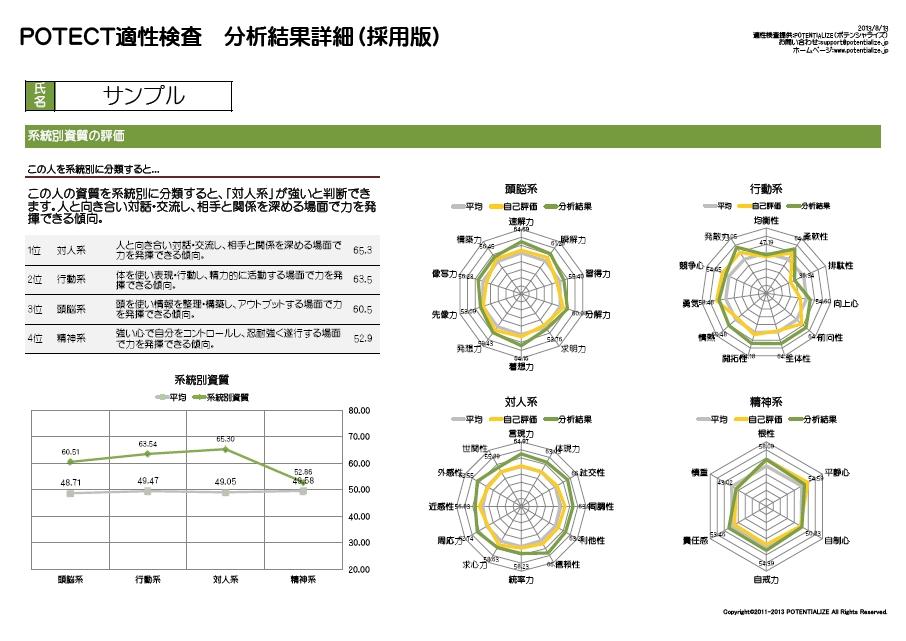 系統別資質分析シート(絶対評価版)